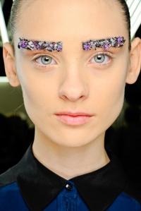 Eye Art, Embroidery eyebrows at Chanel. Photo: Monica Feudi/Feudiguaineri.com