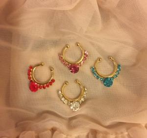 Colorful Jewel Faux Septum Nose Clip $12